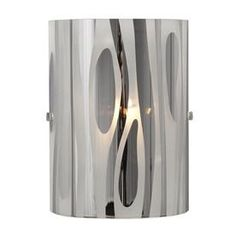 Galaxy�6-in W Lustre 1-Light Chrome Pocket Wall Sconce