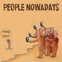 Smartphone Humor | People Nowadays! | From the Funny Technology - Community - Google+ via Metro PCS Phones