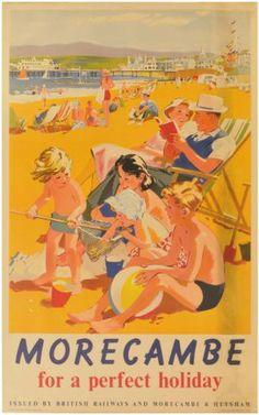 Vintage Railway Travel Poster - Morecambe - UK