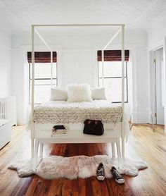 all white rooms french | Modern Bedrooms: Small Spaces with Big Style - Euro Style Home Blog ...