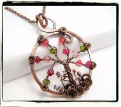 021 Antique Copper Cherry Blossom Crystal Wire by FashionWire, $34.99