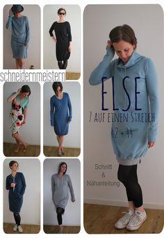 Ein Kleid für jede Gelegenheit! in den *Größen 42 und 44* Schnitt und Nähanleitung für mindestens 7 verschiedene Kleider nach einem variablen Grundschnitt. Das geniale Baukastensystem ermöglicht...