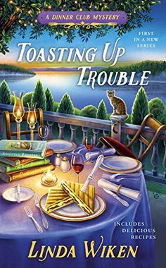 Toasting Up Trouble: A Dinner Club Mystery by Linda Wiken http://www.amazon.com/dp/0425278212/ref=cm_sw_r_pi_dp_vtoIwb1TRDJ2Z