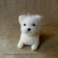 Needle felted puppy Maltipoo by FunFeltByWinnie on Etsy, $48.00