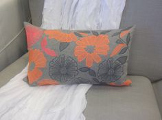 Hand Block Printed from India this gorgeous Neon cushion is available for $69.95.