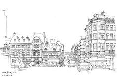 Liège, le Pont d'Avroy et la rue St-Gilles | por gerard michel