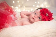 Christmas themed shoot for a 2 month old! Great for Christmas Card!