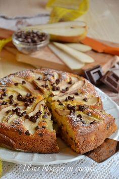 torta pere e cioccolato con yogurt, quindi senza usare la bilancia