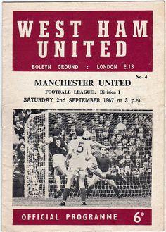 Vintage Football (soccer) Programme - West Ham United v Manchester United, 1967/68 season #football #soccer #westham
