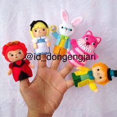 Finger puppet: Alice in Wondeland  Check my instagram for more: @id_dongengjari