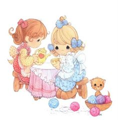 Dibujos ninas preciosos momentos