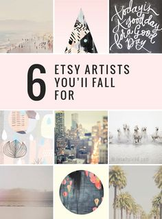 Need to add some interest and personality to your home? | 6 Etsy Artists You'll Fall For