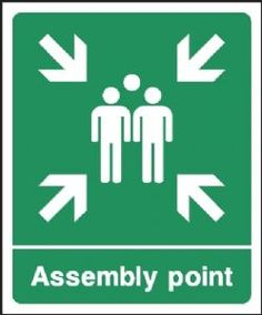 Fire Assembly Point emergency escape safety sign