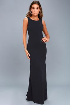 Call My Name Navy Blue Backless Maxi Dress 669d3647e