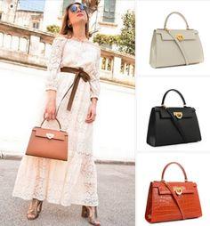 e615d2ea8a Carbotti gorgeous leather Kelly style handbags from Attavanti Designer  Leather Handbags
