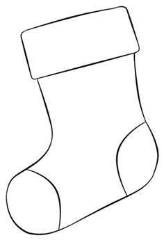 Christmas Coloring Pages - Bottom - Feliz Natal 1609 Christmas Stocking Template, Christmas Applique, Christmas Templates, Christmas Sewing, Christmas Printables, Christmas Activities, Christmas Crafts For Kids, Christmas Art, Christmas Projects