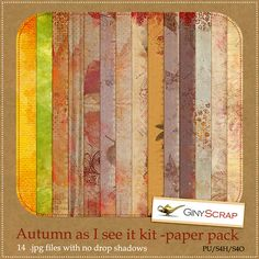 Autumn as I see it paper pack by Giny Scrap  **S** <3 this idea maybe for a background with a small pix.
