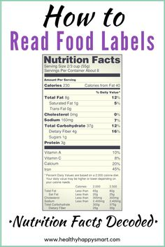 Guide to nutrition facts - how to read food labels - #healthyhappysmart