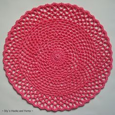 ~ Dly's Hooks and Yarns ~: ~ 'easy lacy crochet doily' ~