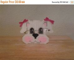 AFTER CHRISTMAS SALE adorable puppy peeper keeper eyeglass holder plastic canvas by evashandcrafts on Etsy