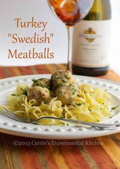 Turkey Swedish Meatballs |Carrie's Experimental Kitchen #turkey #meatballs