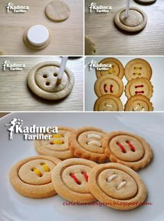 Dme kurabiye tarifi nasl yaplr kadnca tarifler the most amazing brownie cookie Cookies Et Biscuits, Cake Cookies, Sugar Cookies, Button Cookies, Cookie Recipes, Dessert Recipes, Fun Easy Recipes, Food Decoration, Cookie Designs