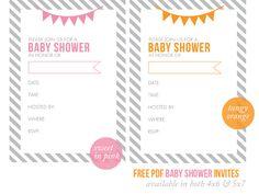 free, printable baby shower invitations