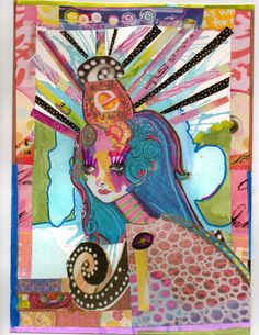 mixed media art journals - Google Search