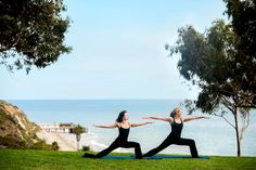 One of the offered hikes leads to the highest point of the resort where yoga classes and boot camps are offered on a green lawn with sweeping views of the pristine Gaviota coastline.