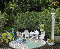 With a dose of creative spirit, a bit of abracadabra and a pinch of fairy dust, you can create your own magical miniature garden. Mini Fairy Garden, Fairy Garden Houses, Fairy Gardening, Garden Gnomes, Container Gardening, Garden Terrarium, Succulents Garden, Bonsai, Garden Beds