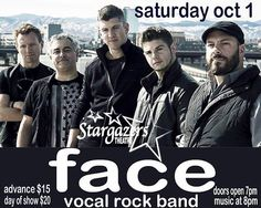 We are playing at the amazing Stargazers Theatre in Colorado Springs on Saturday, Oct 1.  We are on stage at 800 p.m. There is a full bar and light fare available for purchase.  This unusual and unique dome building, now known as Stargazers Theatre and Event Center, was originally built in 1969 and designed by the fascinating architect, Vincent G. Rainey.  Come check out an amazing venue while you watch us sing our hearts out! #facevocalband #Fall4Face
