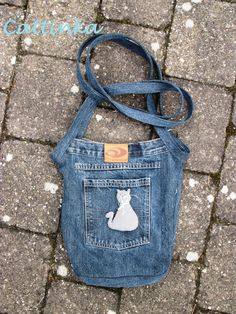 Jeans Recycled into a cute crossover bag!