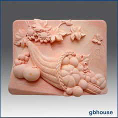 2D Soap Silicone Mold Fall Cornucopia free shipping  by egbhouse, $38.00
