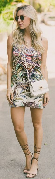 Glam For You Printed Little Dress
