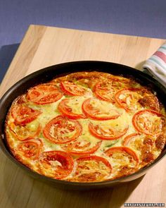 Zucchini Tomato Frittata. I use cherry tomatoes, halved mad only 1 zucchini