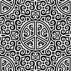 Sweet Peace Black and White- Large custom fabric by shala for sale on Spoonflower Geometric Designs, Creative Business, Custom Fabric, Spoonflower, Animal Print Rug, Craft Projects, Peace, Quilts, Quilt