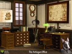 The Antique Office, circa 1900!  Contains a working adding machine (computer)…
