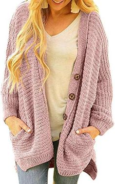 New Chenille Sweater Women Winter Loose Velvet Jacket Solid Color Single Breasted Casual Cardigan Pockets online - Premiumtopstyle Long Knit Cardigan, Oversized Cardigan, Knit Shirt, Sweater Cardigan, Velvet Jacket, Sweater Coats, Sweaters For Women, Button, Shopping