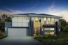 1 part: Facades and plans of modern houses - Plans of House - Fachadas Modern House Plans, Modern House Design, Modern Houses, Story House, My House, Modern Minimalist House, Townhouse Designs, Two Storey House, House Elevation