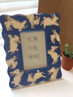 A personal favorite from my Etsy shop https://www.etsy.com/listing/262281045/patricia-dupont-bunny-frame