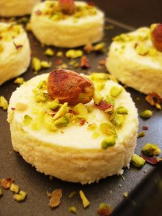 """Mishti …….Mishti …..Misthi ! Bengali Sweet delicacy """"Sandesh"""" jus put in your mouth its jus melts and gives that velvet feeling ....... leaving you asking for more! For recipe -- http://mmmithaiwala.blogspot.in/2012/05/bengali-delicacy-sandesh.html"""