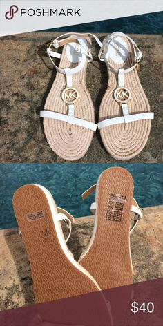 Michael Kors strappy sandals size 8.5 White MK sandals size 8.5 New condition **JUST REDUCED** Michael Kors Shoes Sandals