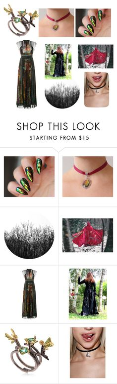 """""""forest fairy"""" by lauras-pills ❤ liked on Polyvore featuring Valentino and Federico Primiceri"""
