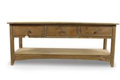 Meuble Console Bois 3 Tiroirs 110x38x45cm Style Rustique, Decoration, Entryway Tables, Cabinet, Storage, Furniture, Home Decor, Wood Furniture, Rustic Wood