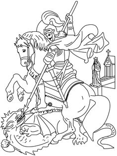 Another St. George Catholic Coloring Page  Feast day is April 23