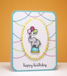 My paper journey - Little circus elephant card
