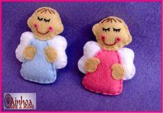 Detalle bautizo o baby shower bebé angelito en fieltro - artesanum com