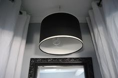 When I grow up...: Lampshade light fixture - DIY