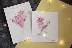Botanical doodle with a bright pink watercolor background! I think these turned out really nice! Watercolor Splatter, Watercolor Background, Abstract Watercolor, Watercolor Flowers, Flower Doodles, Schmidt, Bright Pink, Really Cool Stuff, My Arts
