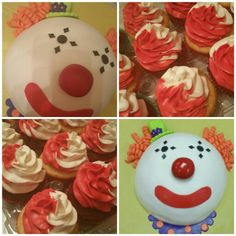 Clown cake! Suprise m&ms inside!!! search girlie girl sweets on facebook